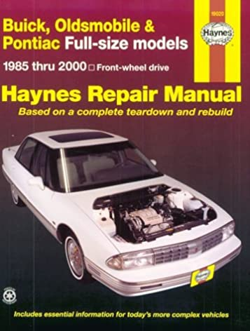 haynes repair manual buick oldsmobile pontiac full size models rh amazon com 1990 Oldsmobile Cars Oldsmobile Cars 2017