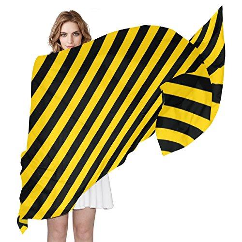 Alaza Une Jaune Léger Écharpe Multicolore Et Oblique Femme Noir Stripes YaqwIar