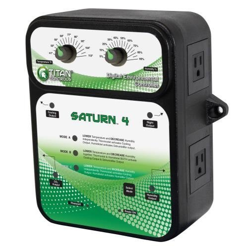 Co2 Ppm Controller (Titan Controls Digital Environmental Controller w/ Photocell, 120V - Saturn 4)