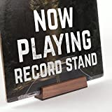 Now Playing Vinyl Record Album Cover Display Stand in Walnut