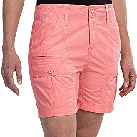 White Sierra Womens Canyon Cargo Shorts