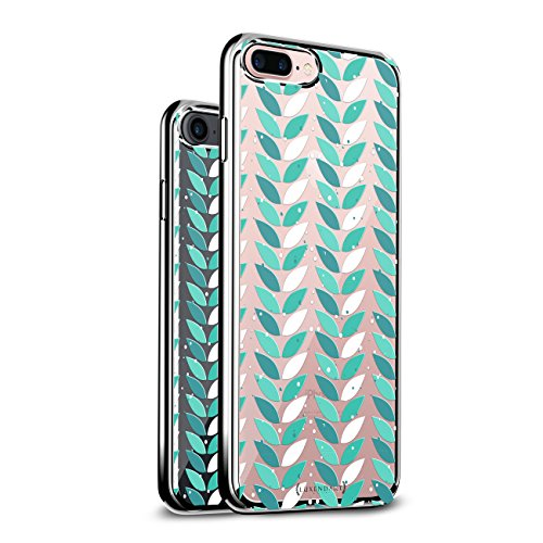 (LEAVES IN COLUMNS   Luxendary Chrome Series designer case for iPhone 8/7 Plus in Silver trim)