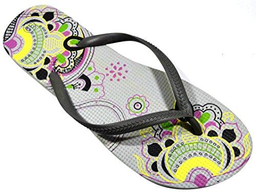 Octave , Damen Zehentrenner Mandala Design - Grey