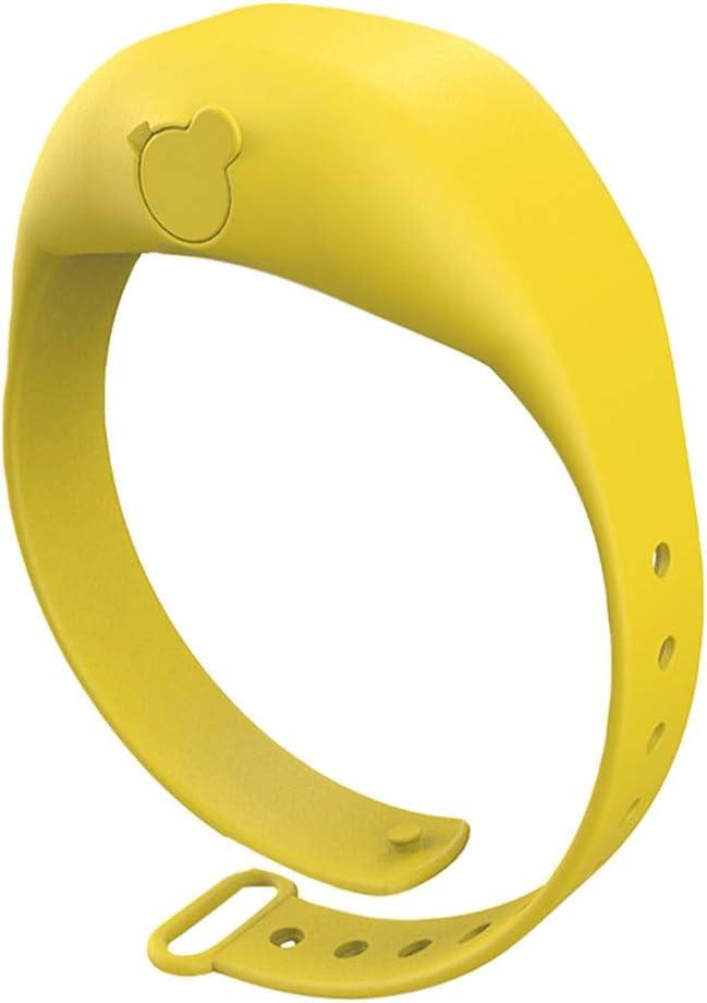 Eighty Lot de 3 bracelets de d/ésinfection pour les mains avec bec rechargeable 15 ml pour bouteille de biberon anitizer pour adultes et enfants Noir