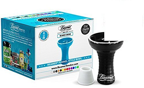U Pick Color. Large Beamer Hookah Funnel Bowl, Bowl Grommet, Limited Edition Beamer Sticker. Comes in Bubble Wrapped Box (Black) by Beamer