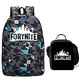 Gash Hao Fortnite Backpack Boy Lunch Box School Bookbag Insulated Mini Bag for Kids