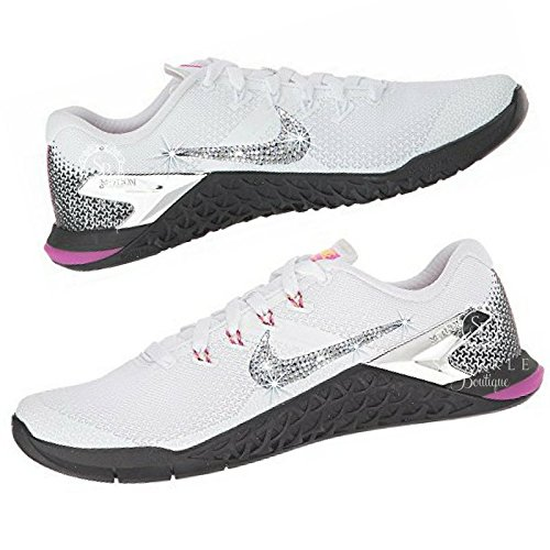 Swarovski Nike Metcon 4 Custom Bling Bedazzled Kicks with Crystals Made by  SparkleBoutique2U