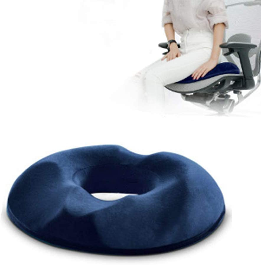 Hemorrhoids Seat Cushion Donut Cushion Hemorrhoid Pillow Ass Pad Donut After Surgery and Childbirth Cushion Relieve The Pain of Sitting,Blue