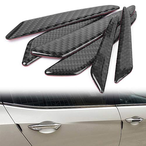 Timmart Carbon Fiber Car Door Protective Strip Anti-collision for Mercedes Benz