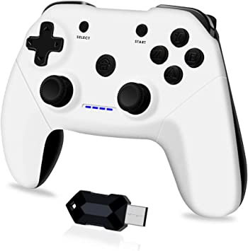 Todo para el streamer: Clevo Mando para PC, Mando PC Gaming 2.4G Bluetooth Mando Inalámbrico Vibración Dual Compatible para PC/PSC/Android/TV Box (OTG Función