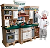 Step2 LifeStyle Deluxe Kids Kitchen Playsets - Sturdy Realistic Pretend Cooking Play Set with Accessories - Battery Operated Appliances, Sound and Light - Multicolor