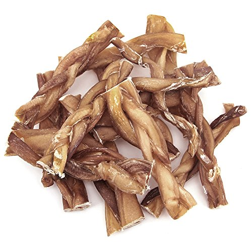 GigaBite 6 Inch Odor-Free Braided Bully Sticks (1-Pound) – USDA & FDA Certified All Natural, Free Range Beef Pizzle Dog Treat – By Best Pet Supplies by Best Pet Supplies, Inc. (Image #5)