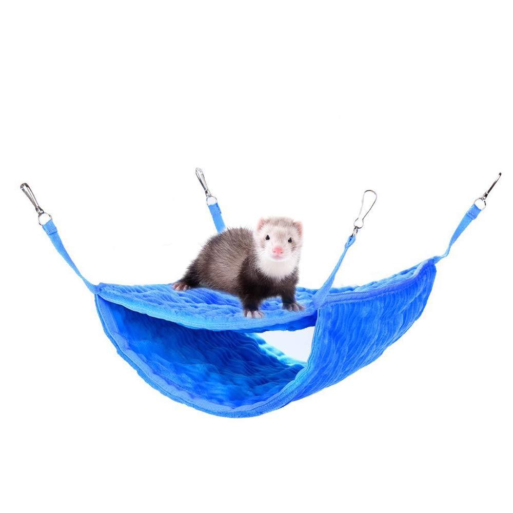 bluee Luxury Bunkbed Hammock Ferret Hammocks Fit 2 Adult Ferrets or 5 More Adult Rats (bluee)