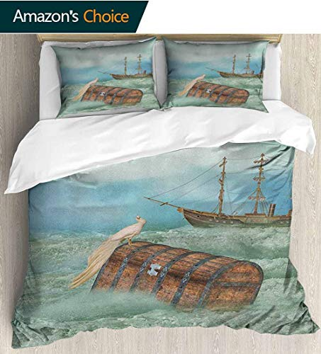 Fantasy 3Pcs Duvet Cover Sets,Box Stitched,Soft,Breathable,Hypoallergenic,Fade Resistant Kids Bedding - Double Brushed Microfiber (79