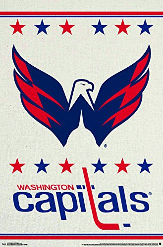 "Trends International Washington Capitals Logo Wall Poster 22.375"" x 34"""