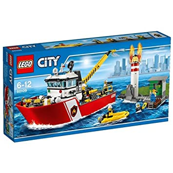 lego 60109 city le bateau des pompiers