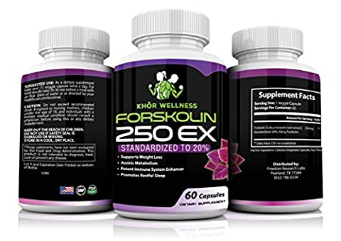 Premium Forskolin Extract Weight Loss Supplement – Pure Forskolin 20% Standardized, 60 Capsules, Boosts Metabolism, Fortifies Immune System, Appetite Suppressant, Carb Neutralizer, Coleus - 20 User Lab Pack