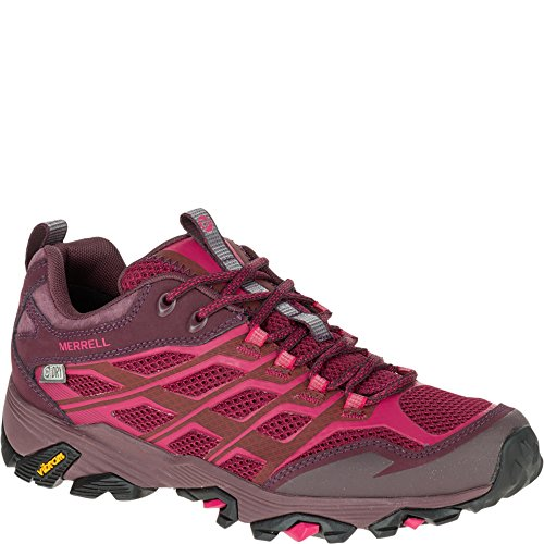 Merrell Women's Moab FST Waterproof Hiking Shoe Beet Red G2phT