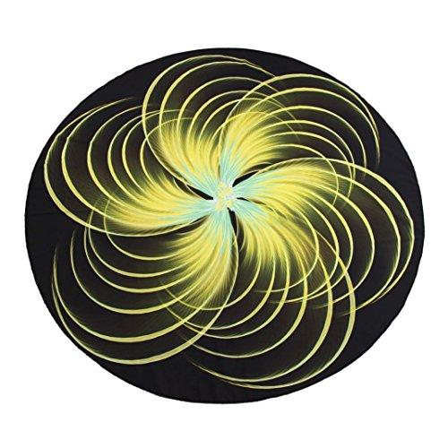 Amiley Summer Bohemian 3D Print Pattern Yoga Mat Beach Swimming Pool Home Table Cloth Yoga Mat (Yellow) ()