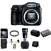 Pentax 645Z Medium Format DSLR Camera w/ Pentax 120 F 4.0 Lens (Black) 64GB Bundle 1
