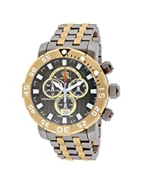Invicta Men's Sea Base Gold-Tone Titanium Bracelet Steel Case Swiss Quartz Gun Metal Dial Watch 14259