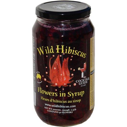 Wild Hibiscus Flowers, 50 FLowers Per Jar - 2.5 Lb (Pack of 4)