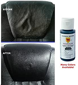 leather restore leather color repair black 1 oz bottle repair recolor restore. Black Bedroom Furniture Sets. Home Design Ideas