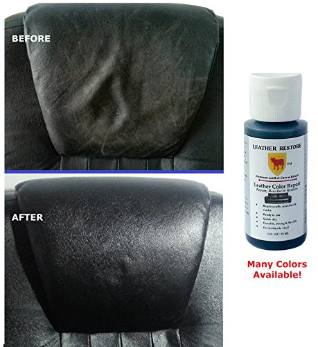 leather restore leather restore leather color repair black 1 oz bottle repair recolor. Black Bedroom Furniture Sets. Home Design Ideas