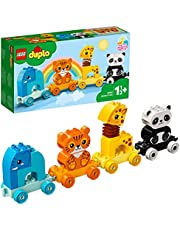 LEGO 10955 DUPLO My First Animal Train with Elephant, Tiger, Panda and Giraffe for Toddlers 1 .5 Years Old
