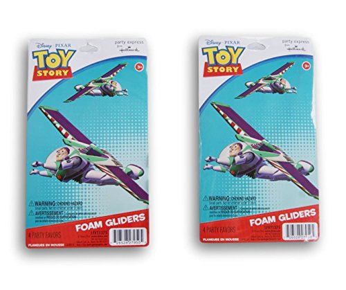 Toy Story Buzz Lightyear Foam Glider Party Favors - 8 Count