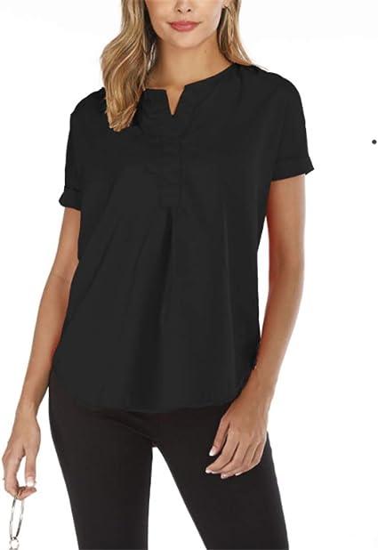 Mujer Camisa Basica Camiseta Suelto Verano Tops Casual Fiesta T-Shirt, Camisa con Cuello en v: Amazon.es: Ropa y accesorios
