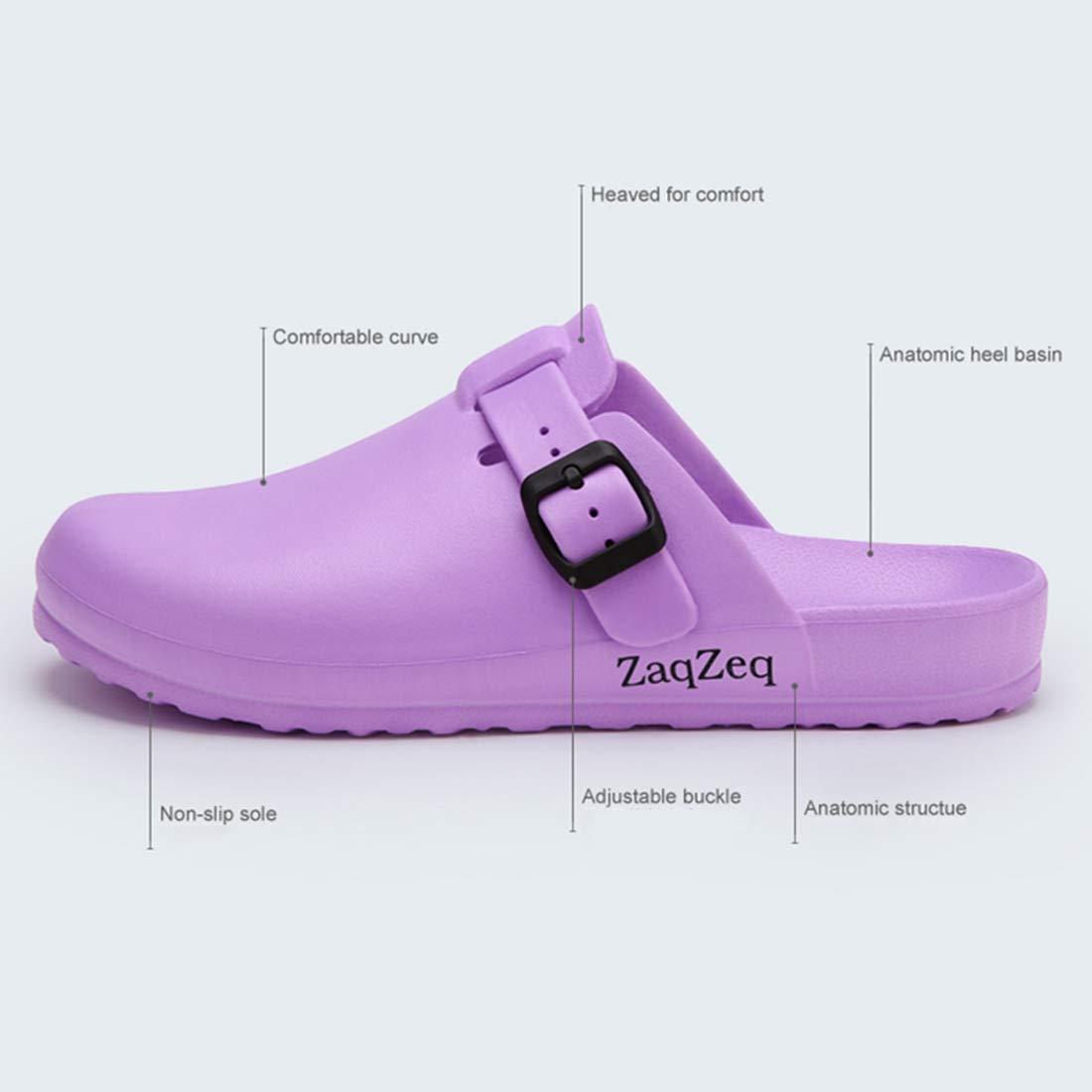 Jiyaru Men Women Work Clog Restaurant Chef Nurse Slip Resistant Shoes