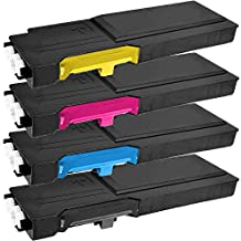 1 Set of 4 Inkfirst® Toner Cartridges 6600 BK C M Y Compatible Remanufactured for Xerox 6600 Black, Cyan, Magenta, Yellow Phaser 6600 6600dn 6600n 6600ydn WorkCentre 6605 6605dn 6605n