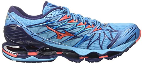 Scarpe Donna WOS Mizuno da Turchese Wave Prophecy 7 Aquariushotcoralpatriotblue Running 0wq0FI1an