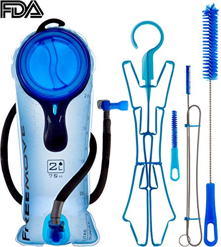 2L Hydration Bladder & Cleaning Kit or 3 Liter Water Reservoir BEST CHOICE TO STAY HYDRATED | Leak Proof | Tasteless & BPA Free TPU Material | Bladder Bag For Hiking (2L Bladder + Cleaning Kit)