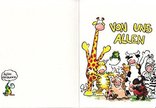 Geburtstagskarte Witzig Von Uns Allen Animals Amazon De Burobedarf