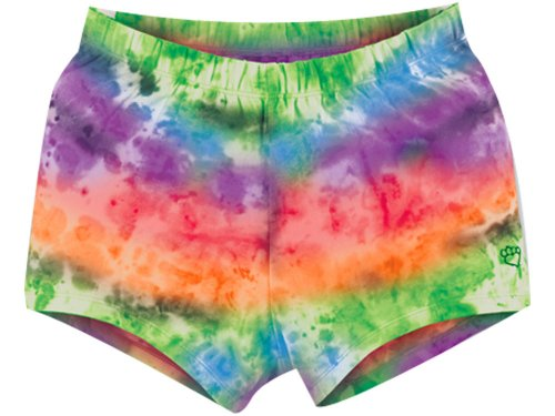 Adult Tie Dye Short (Tie Dye Compression Shorts Multi-Color X-Small)
