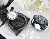 Reflections Elegant Black-and-White Mirror Compact (Set of 48) For Sale