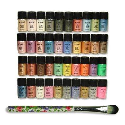 NYX Cosmetics lâche perle Ombre à paupières Glitter Eye Shadow 40pc Set avec Free Eye Shadow Brush