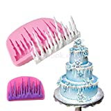 3D Ice Castle Silicone Cake Mold Fondant Mould Pastry Chocolate Baking DIY