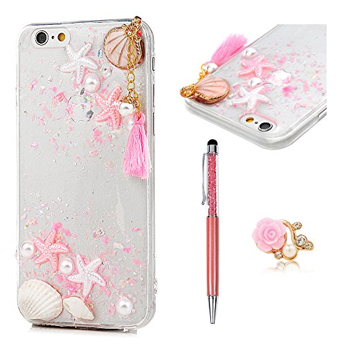 Reviews Shell Pink (MOLLYCOOCLE iPhone 6 Case, iPhone 6S Case(Not Plus), Summer Ocean Style Star Shell Embellishment Transparent Clear Soft Crystal Silicone TPU Bumper Protective Cover for iPhone 6 / iPhone 6S - Pink)