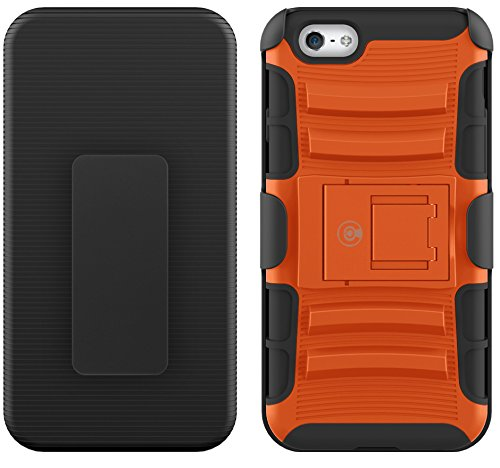 CABLE AND CASE iPhone 6s Case, [Blade Series] - Heavy Duty Protection From Drops And Falls - Also Compatible With Apple iPhone 6 [Orange]