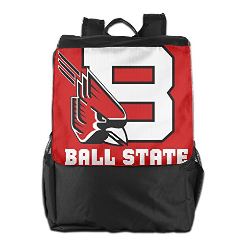 Hotboy19 Ball State University Men & Women Shoulder Bags Ball Backpack For Teens (State University Ladies Purse)