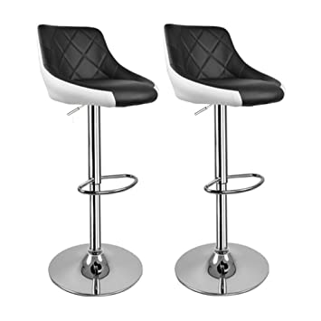 hollylife kitchen stools with backs 2x breakfast bar chair rh amazon co uk kitchen stools with backs uk kitchen stools with backs and wheels
