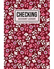 Checking Account Ledger: 6 Column Payment Record Book, Transaction Register For Checking Account, Balance Tracker Log Book (Red Floral Cover)