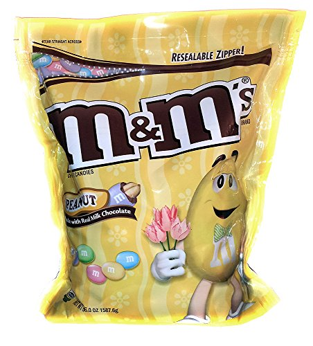 Easter Pastel Peanut M&M's - 56 Ounce Jumbo Size Bag