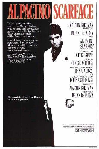 Scarface US Al Pacino Eighties Promo Huge Vintage PAPER Movi