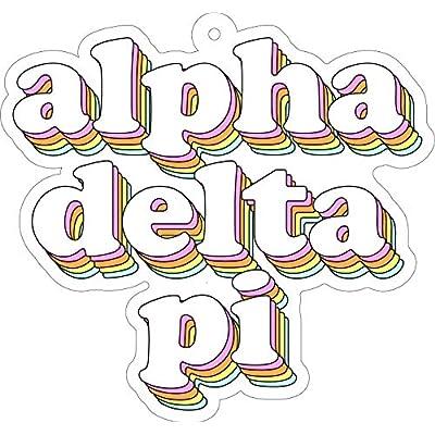 Alpha Delta Pi - Retro Air Freshener - 2/Pack: Kitchen & Dining