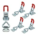 XRPAOWA 5PCS Latch Toggle Clamp 220Lbs 100Kg Holding Capacity 4001 Hand Tool Pull Action Latch Type Toggle Clamp 4001 Triangle Shaped Lever Latch
