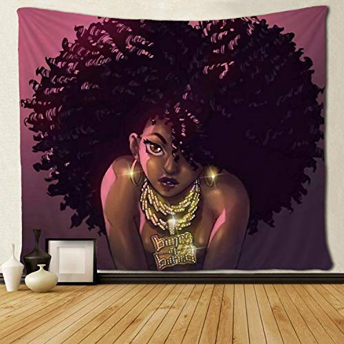 - SARA NELL Tapestry African American Women Art Tapestries Wall Art Hippie Bedroom Living Room Dorm Wall Hanging Throw Tablecloth Bedspread 50